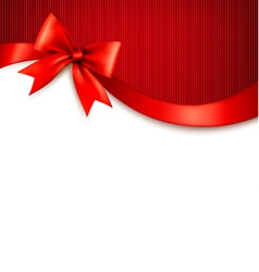 Holiday background with red gift glossy bow and vector image vector image