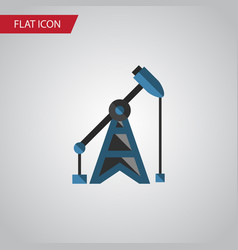 isolated oil pump flat icon rig element vector image
