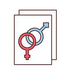 male and female symbol vector image vector image