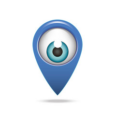 map pointer icon eye vector image
