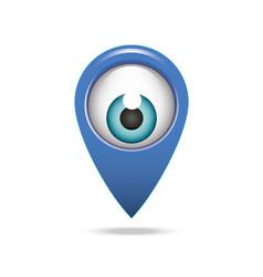 Map pointer icon eye vector