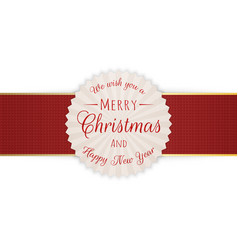 merry christmas realistic circle banner vector image
