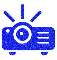 Projector grunge icon vector