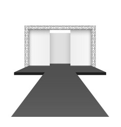 runway podium stage empty catwalk with black vector image vector image
