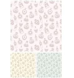 Seamless perfumes pattern vector image vector image