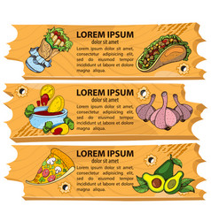 set banners fast food design elements for the vector image vector image