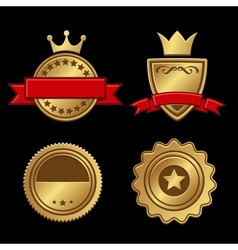 Set of Gold Badges Vintage Award vector image vector image