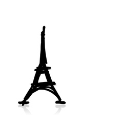 Sketch of eiffel tower for your design vector image
