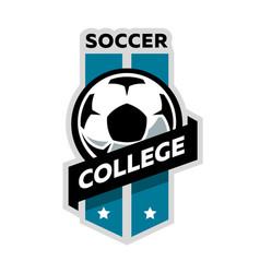 Soccer college logo vector
