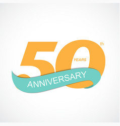 Template logo 50th anniversary vector