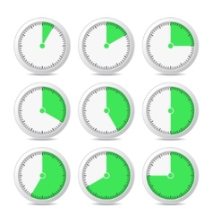 Timer Icons on White Background vector image