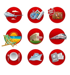 travel and resort icon set vector image vector image