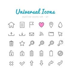 Univerasal web icons set vector image vector image
