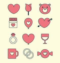Valentines day icon set vector