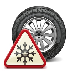 Winter tire with sign vector