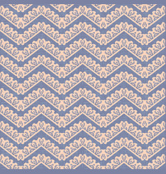 Zigzag decor seamless pattern canvas vector