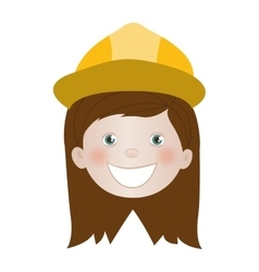 Child dressed as engineer icon image vector