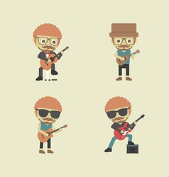 115guitarist2 vector image
