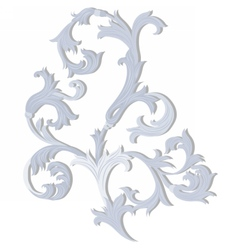 Acanthus leaf ornament pattern vector