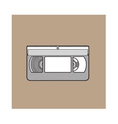 Video cassette vhs videotape from 90s isolated vector