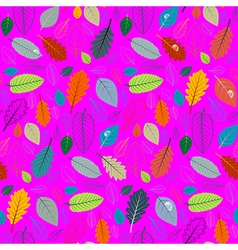 Abstract pink retro seamless pattern - autumn vector