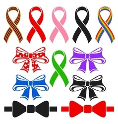 Ribbons and bows vector
