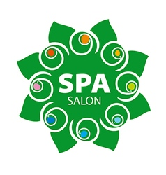 Abstract floral logo for spa salon vector