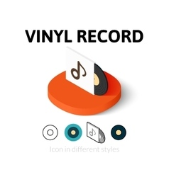 Vinyl record icon in different style vector