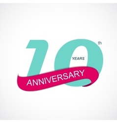 Template logo 10th anniversary vector