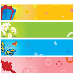 valentine banners vector image