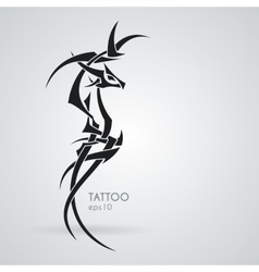 The stylized image of a dragon  tattoo vector