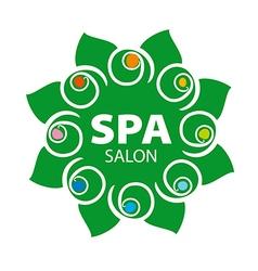 Abstract floral logo for spa salon vector