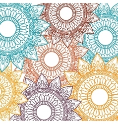 Background bohemian mandala vector