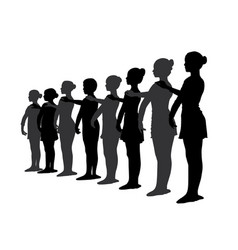 ballet dancers standing in a row vector image vector image