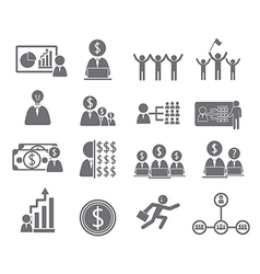 Business icons management and human vector image