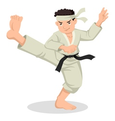 Cartoon Karate Boy vector image vector image