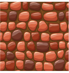 Cartoon red stone texture seamless vector