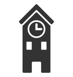 Clock tower flat icon vector