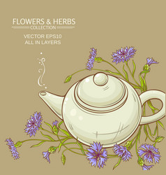 Corn flower tea background vector