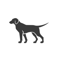 Dog Side View Isolated On White Background vector image vector image