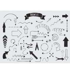 Doodle set of arrows vector