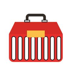 Fishing kit box icon vector