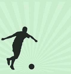 footballer vector image