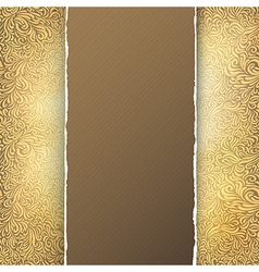 golden menu template vector image vector image