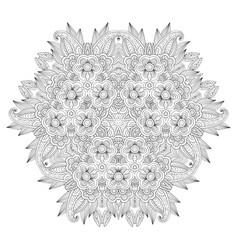 Grafic round lace pattern vector