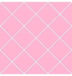 Grid Diamond Square Pink Background vector image