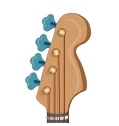 Head of the guitar on white background vector image vector image