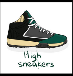 high sneakers vector image vector image