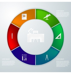 infographic for education vector image