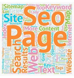 JP seo sitemap text background wordcloud concept vector image vector image